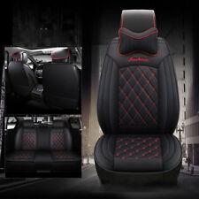 Black PU Leather Car Seat Covers Volkswagen Polo VW Golf Tiguan Passat B6 Lavida