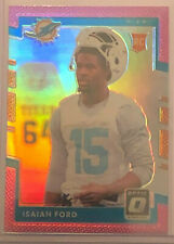 2917 Donruss Optic Isasah Ford PINK Rookie PRIZM RC #137 Dolphins