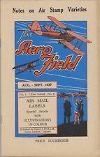 AERO FIELD New Series Vol.1 No.7, 1937, u.a. Mittelholzer, Air Mail labels