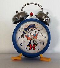 VINTAGE DISNEY DONALD DUCK ALARM CLOCK WORKING!