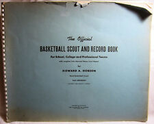 The Official BASKETBALL SCOUT AND RECORD BOOK YALE UNIVERSITY 1948 Sports RARE!