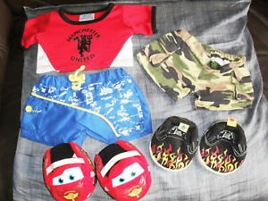 Build - A - Bear Work Shop Boy Outfit inc Shoes Manchester United Football Top