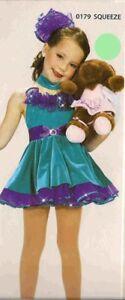 Dance Costume Jazz Tap Ballet Leotard baby doll dress squeeze