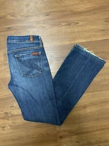 Woman's Seven for All Mankind Flynt Blue Jeans 26