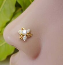 Indian Nose Ring Nose Piercing Brass Nose Studs Strong Silver Jewelry Big Studs.