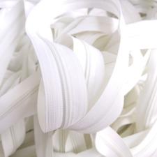 1 Meter Meterware Reißverschluss  5mm Weiß  1 Zipper