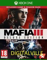 Mafia 3 III Deluxe Edition Xbox One with Season Pass Brand New Factory Sealed