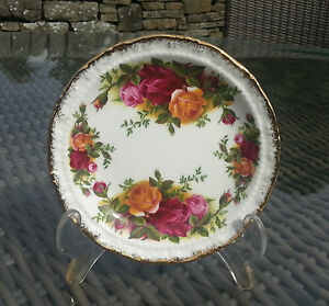 "Vintage Royal Albert OLD COUNTRY ROSES 4.75"" Pin Dish, Original Backstamp"