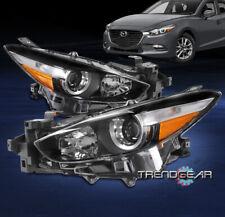 For 2017 2018 Mazda 3 Mazda3 Halogen Projector Headlight Headlamp Lamp Black Lr Fits Mazda 3