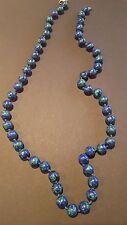 Halskette Perlenkette Azurit Malachit wunderschön schick 80,61 g CP1172
