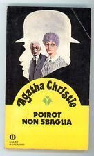 CHRISTIE AGATHA POIROT NON SBAGLIA OSCAR MONDADORI 961 GIALLI 37 1980