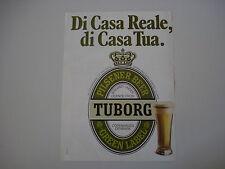 advertising Pubblicità 1980 BIRRA TUBORG