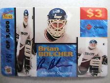 BRIAN BOUCHER Rookies Autogramm Sport Eishockey Limitierte Sprint Telefonkarte