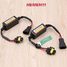 2x H8/H9/H11 Socket Error Free Warning Canceller Load Resistor LED Decoder -AU