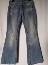 WOMEN'S JEANS BEBE BOOTCUT DISTRESSED STRETCH SIZE 8/26 LEG 30 NWOT FREE POSTAGE
