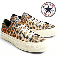 Converse Chuck Taylor All Star Lift Leopard Print Low Top Trainers Sneakers UK 3