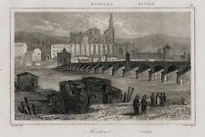 Vista de Córdoba: puente romano de Cordoba über ein río Guadalquivir 1844
