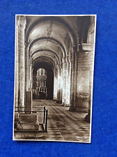 Vintage sepia postcard: Cambridgeshire, Ely, Cathedral south aisle, posted 1928