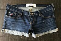 Hollister Low Rise  Stretch Cuffed Denim  Jean shorts size 1