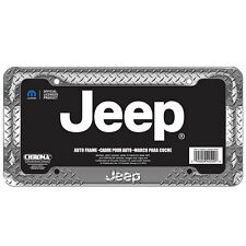 New JEEP Diamond Chrome Metal Heavy Duty Car Truck Suv License Plate Frame