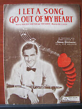 I Let A Song Go Out Of My Heart - Duke Ellington -1938 sheet music -piano guitar