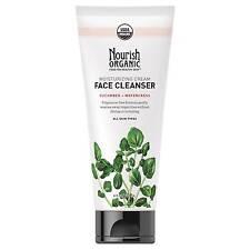 Nourish Organic Moisturizing Cream Vegan Face Cleanser Watercress 6 FL Oz 177 Ml