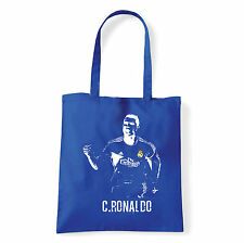 Art T-shirt, Borsa shoulder C Ronaldo, Blu, Shopper, Mare