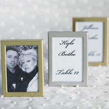 Easel Back Mini Photo Frames Brushed Silver Set of 15 Wedding Favor