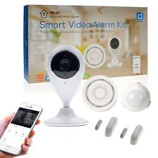WLAN Alarmanlage mit WLAN Kamera Bewegungsmelder, WLAN Überwachungsset Indoor