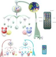 Baby Crib Remote Control Bed Bell Holder Kid Toy Bracket Wind-Up/Auto Music Toys