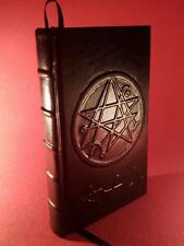 Leather Bound - NECRONOMICON - HP Lovecraft - Occult Grimoire Crowley LaVey