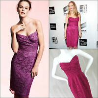 Dolce & Gabbana Pink Lace Bustier Strapless Cocktail Evening Dress Size 40 UK 8