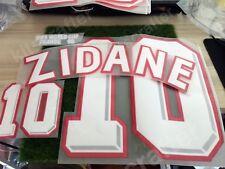 World Cup 1998 France Home Nameset 10 ZIDANE Velvet Soccer Name Print +Patch Set