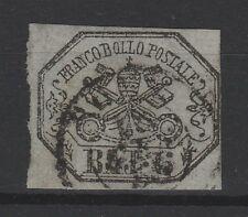 FRANCOBOLLI - 1852 STATO PONTIFICIO 6 BAJ USATO Z/8582