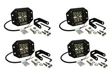 "4x 5"" 24 W Watt LED Flush Mount SPOT Light CREE Off Road Driving Fog Lamp Pod"