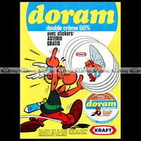 ASTERIX & FROMAGE DORAM 'Les stickers' 1971 - Pub / Publicité / Ad #A4