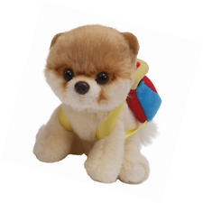 GUND Itty Bitty Boo w/ Backpack Soft Toy Stuffed Cute Dog Kids Plush Collection