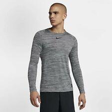 Nike Pro Fitted Long Sleeve Training Shirt Black Cool Grey 922181 4Xl