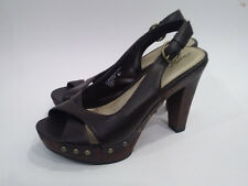 XHILARATION {Size 8.5} Brown Platform High Heel Sandals EXCELLENT!
