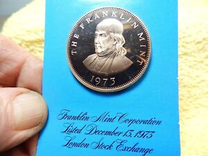 Franklin Mint Bronze Limited Edition FM listed on London Stock Exchange 1973