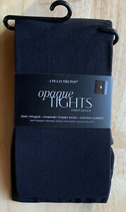 NWT A Pea in the Pod Opaque Tights Comfort Tummy Panel sz A and B  Black