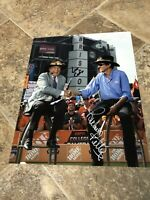 RICHARD PETTY LEE CORSO SIGNED AUTOGRAPHED 8X10 PHOTO RARE THE KING NASCAR ESPN
