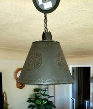 Black Punch Tin hanging Pendant Ceiling Light with Star Rustic Western