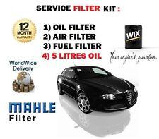 Per ALFA ROMEO GT 1.9 JTD 2004 - > Kit di Servizio Olio Aria Carburante Filtro Set + 5 Ltr OLIO