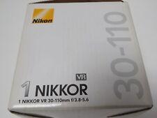 Nikon 1 NIKKOR 30-110mm f/3.8-5.6 VR IF ED Lens (Black) (MQ)