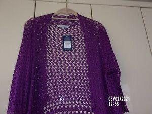 ladies cardi/top.bolero/by j. taylor//size 18/  mid-violet/ bnwt