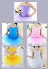 UK Ballet Tutu Kids Classical Ballet Leotard Dress With Bows Dance Costume