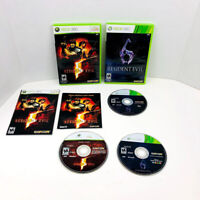 Resident Evil 5 And Resident Evil 6 Xbox 360 Video Games Lot Of 2