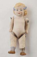 Kleine Puppenstuben Puppe, Porzellan um ca.1900, Länge 10 cm.  (V5)