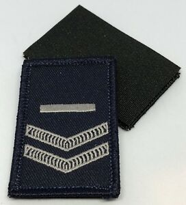 Rank Patch #3, Dark Blue, Police, NOT official NSW, Hook Rear